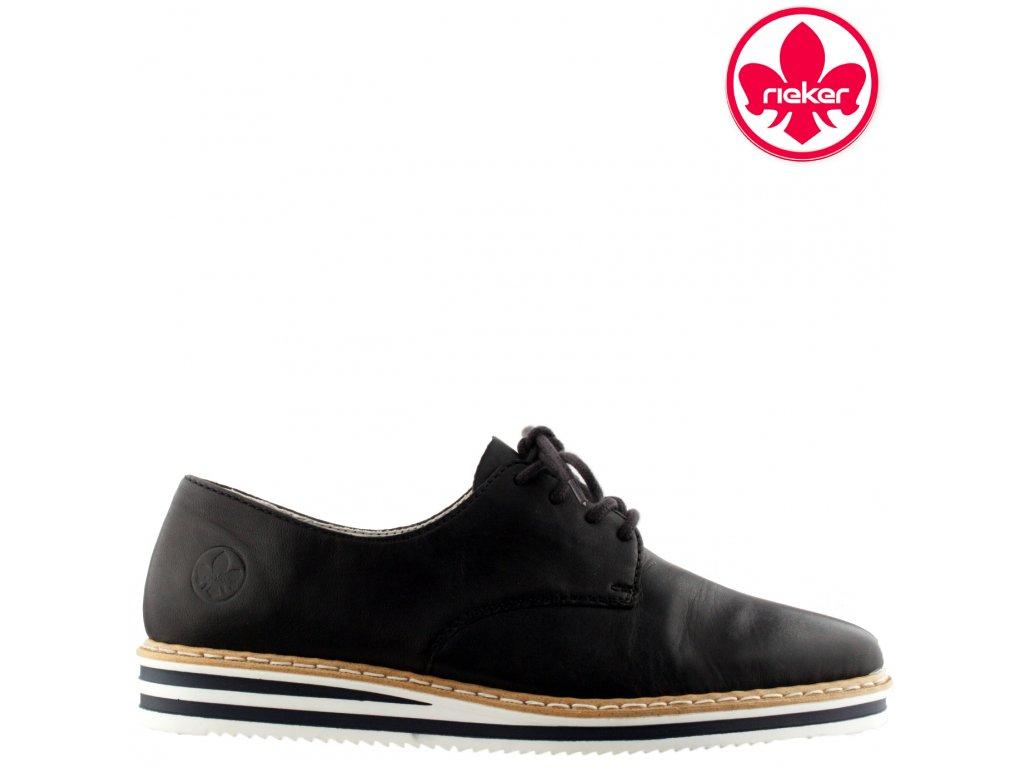 Dámské kožené podzimní boty polobotky Rieker N0210-14