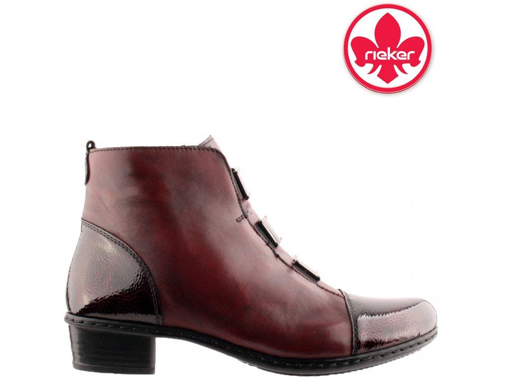 Dámská kotníková obuv RIEKER Y07C9-35 červená