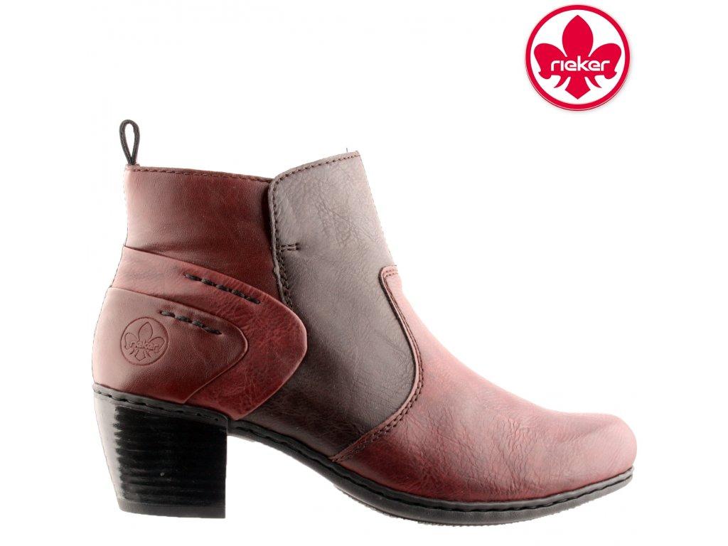 Dámská kotníková obuv RIEKER Y2160-36 červená