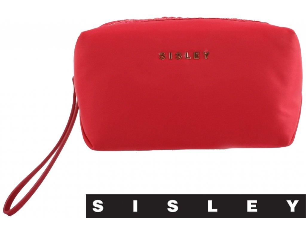 Atraktivní růžové textilní společenské psaníčko SISLEY sibpu000008