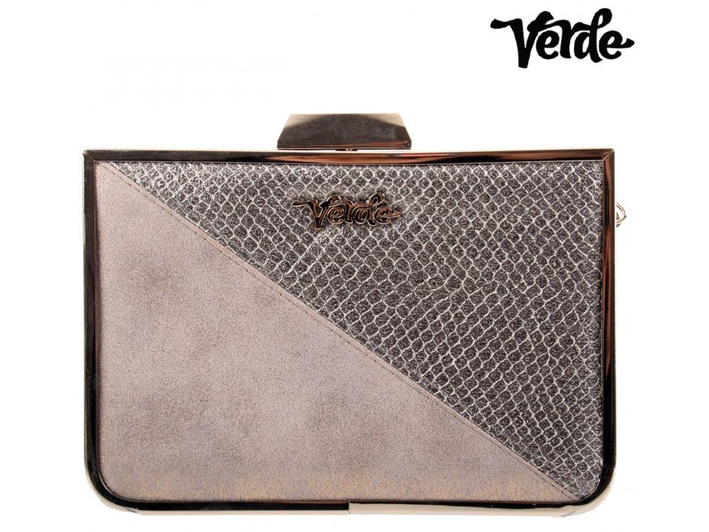 Středně velké stříbrné plesové - společenské psaníčko - společenská kabelka 01-1080 stříbrná