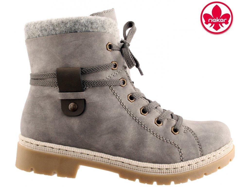 Dámská kotníková obuv RIEKER Y9413-40 šedá