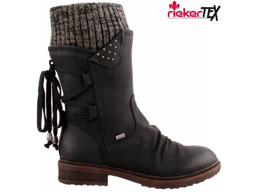 Dámské kozačky RIEKER 94773-00 černá