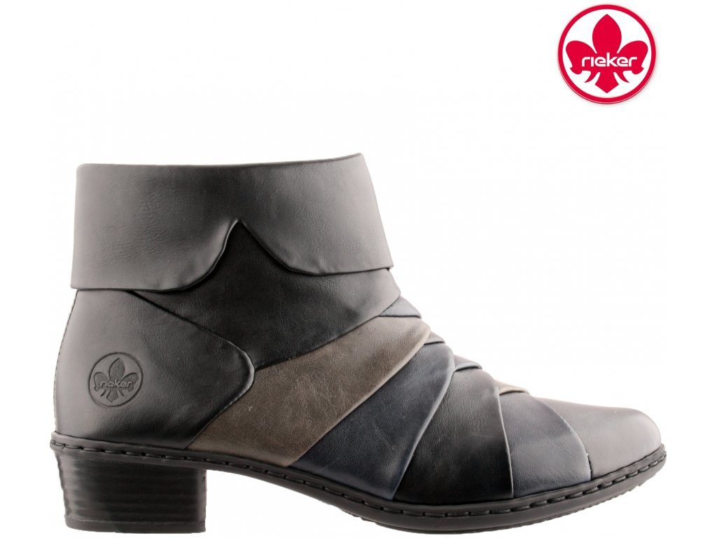 Dámská kotníková obuv RIEKER Y0791-01 černá 962149