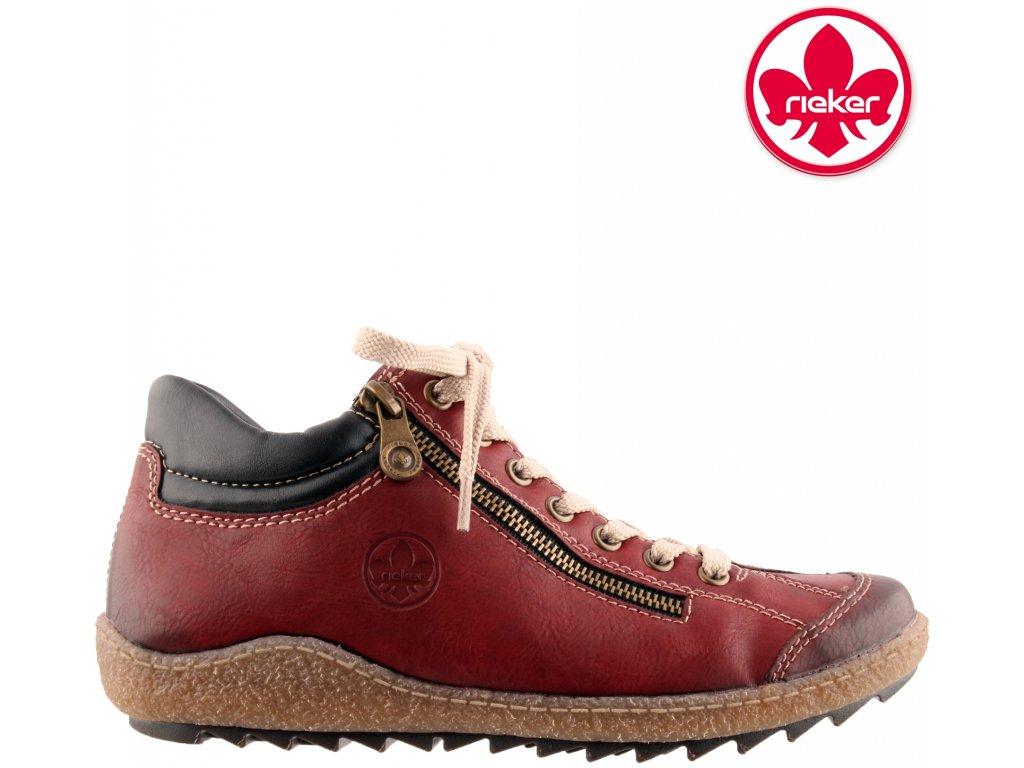 Dámská kotníková obuv RIEKER L7516-37 červená 991495