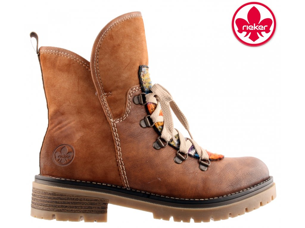 Dámská kotníková obuv RIEKER 70733-22 hnědá