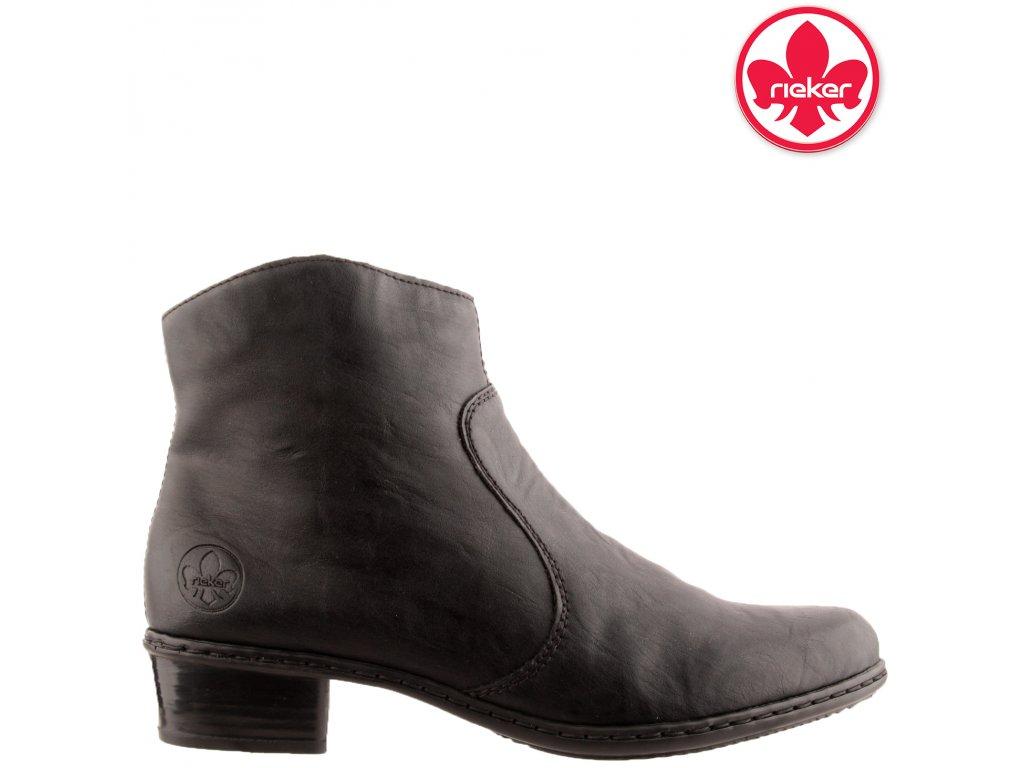 Dámská kotníková obuv RIEKER Y0761-00 Černá