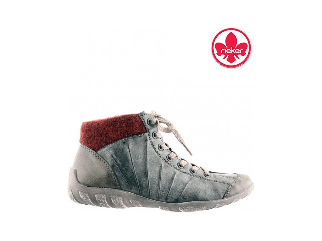 Dámské kotníkové boty tenisky šněrovací sneaker´s Rieker L6545-46 sleva 991320