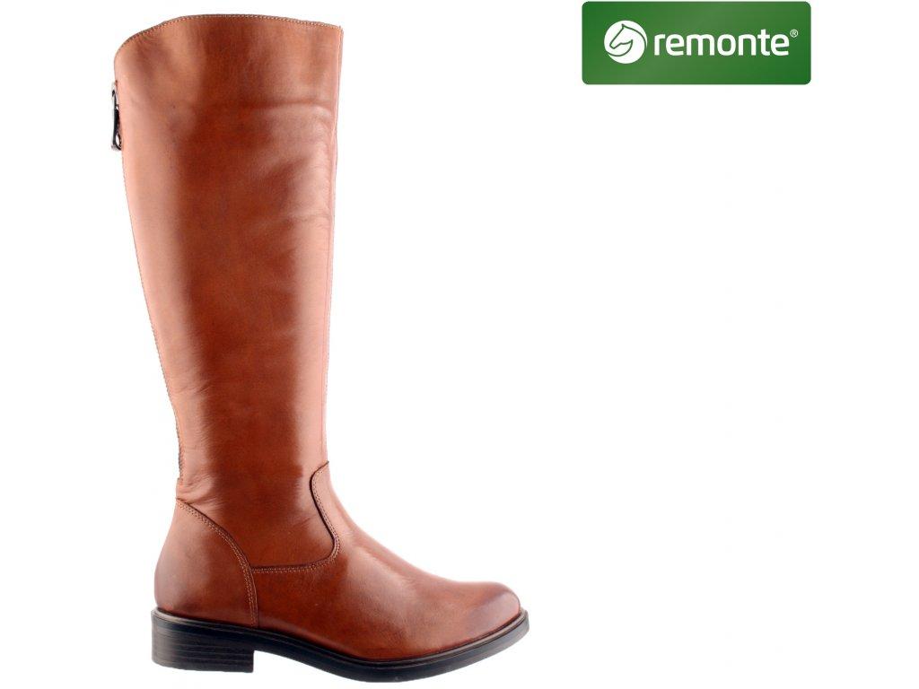 Dámské kozačky REMONTE D8372-22 hnědá