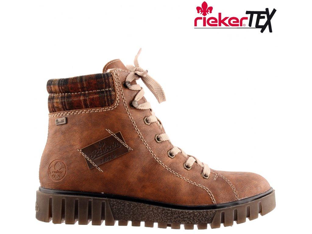 Dámská kotníková obuv RIEKER Y3442-23 hnědá 991643