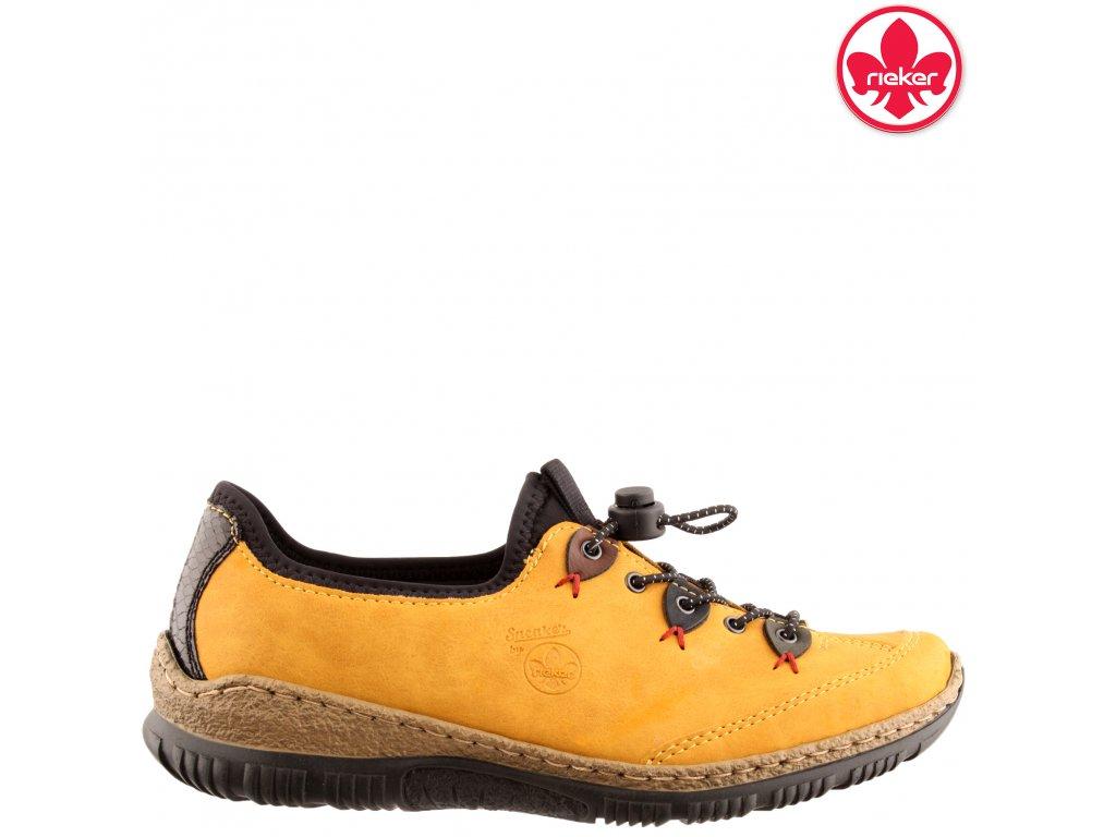 Dámské tenisky RIEKER N3271-68 žlutá