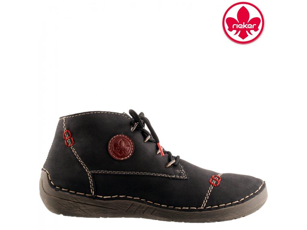 Dámská kotníková obuv RIEKER 52502-00 černá
