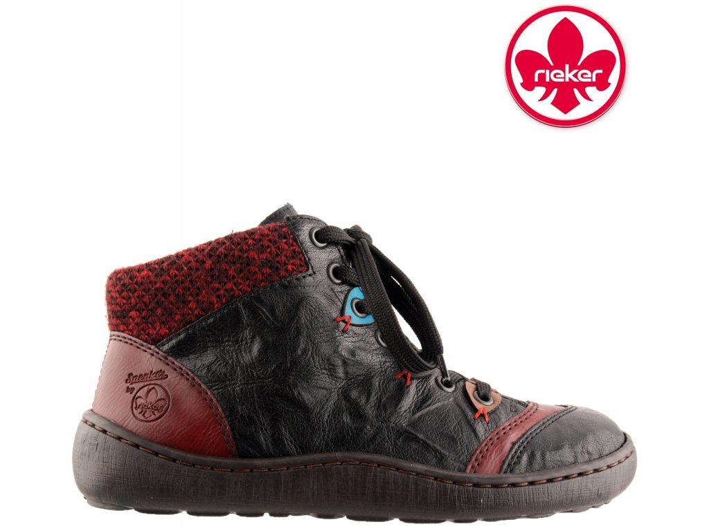 Dámská kotníková obuv RIEKER 44430-00 černá 991315