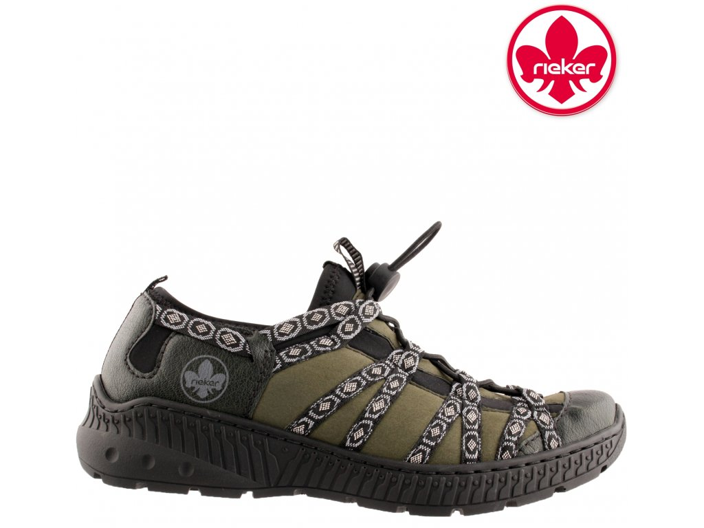 Dámské vycházkové sportovní boty přizpůsobivý nárt Rieker N62N3-54 sleva