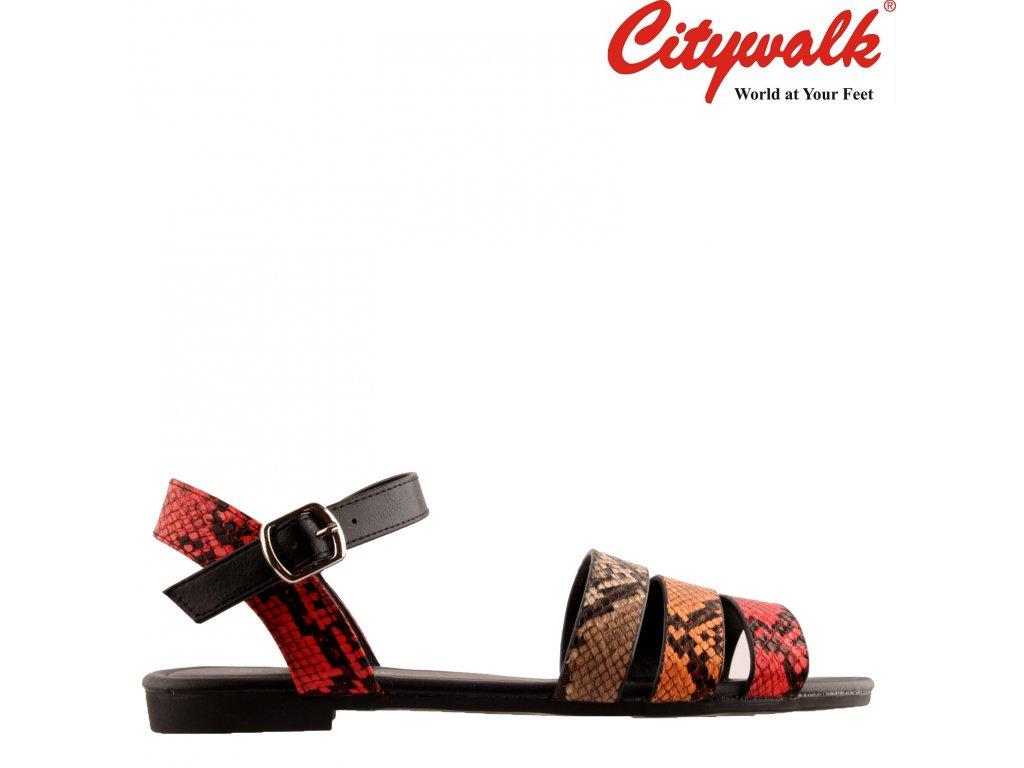 Barevné letní dámské sandály na nízkém podpatku Citywalk 68566817 Sleva