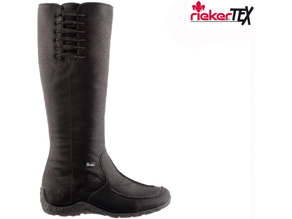 Dámské kozačky RIEKER 79953-00 černá