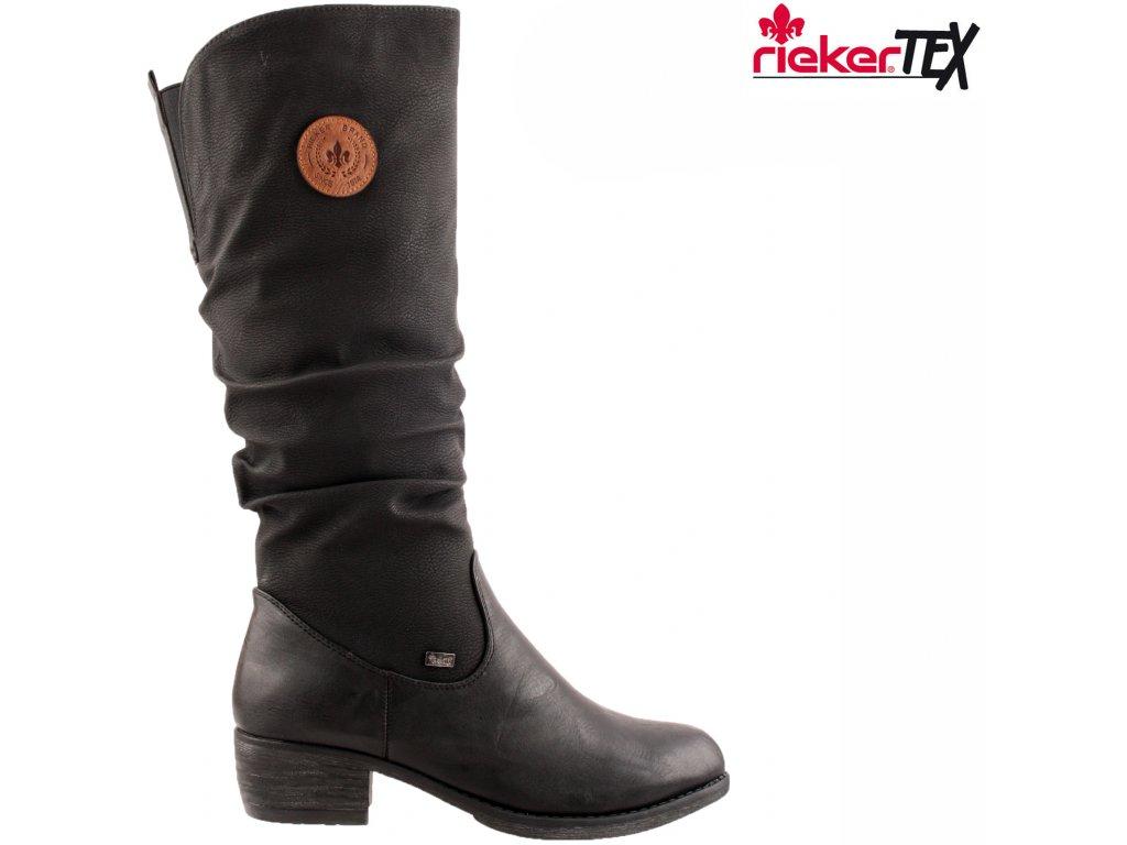 Dámské kozačky RIEKER 93157-00 černá