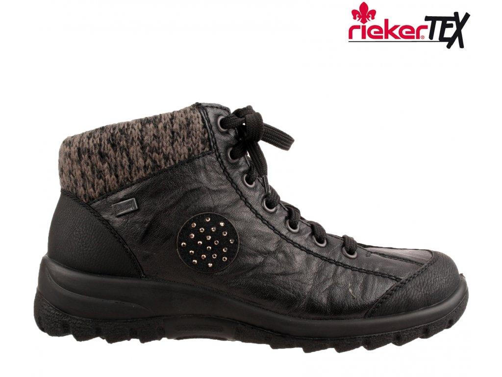Dámská kotníková obuv RIEKER L7110-01 černá