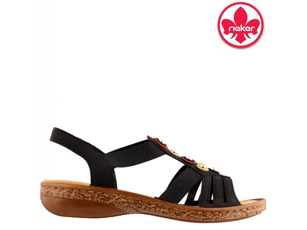 Sandály na klínku Rieker s gumou 628L1-14 sleva 22342115