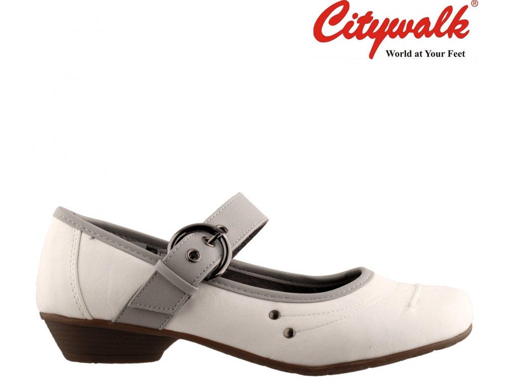 Bílé lodičky na nízkém podpatku CityWalk 16541011
