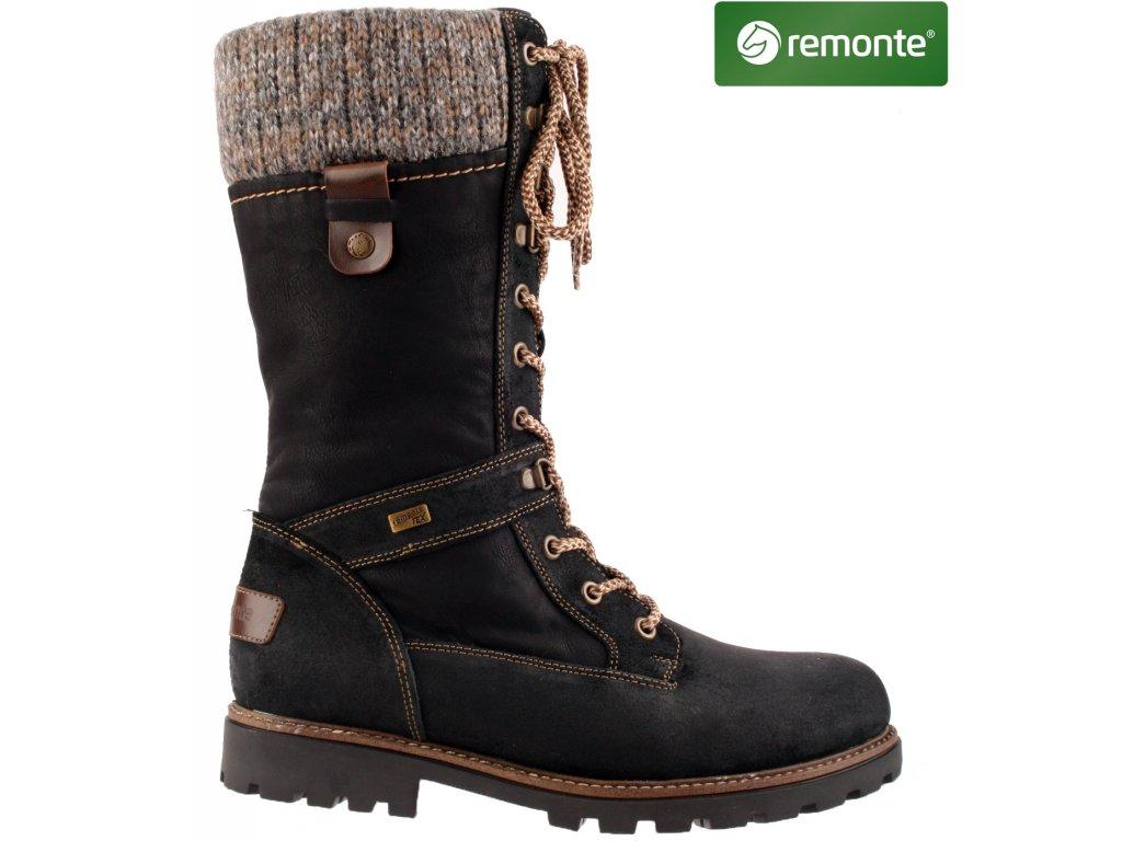 Dámské kozačky REMONTE D7477-02 černá