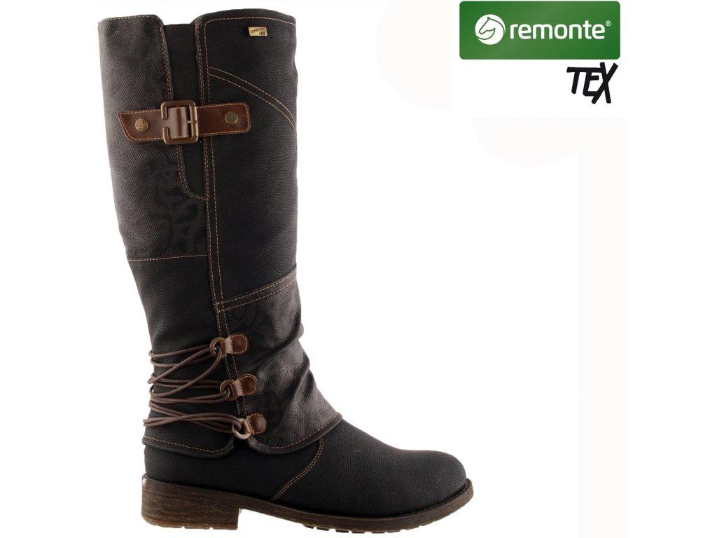 Dámské kozačky REMONTE D8078-01 černá