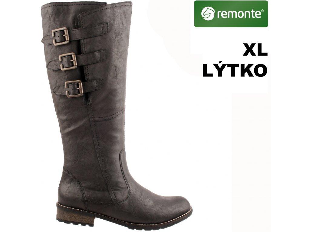 Dámské kozačky REMONTE R3370-01 černá
