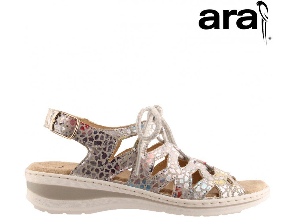 Kožené dámské zdravotní sandály na klínku ARA 12-56510 Anatomická stélka výprodej
