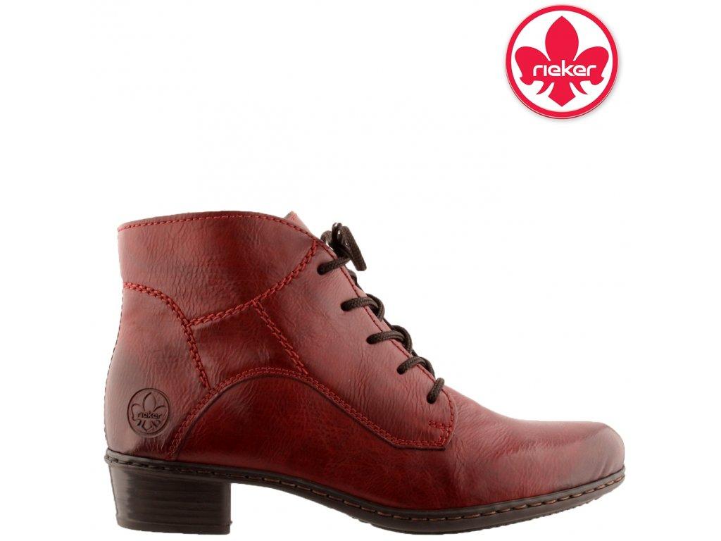 Dámská kotníková obuv RIEKER Y0713-35 červená