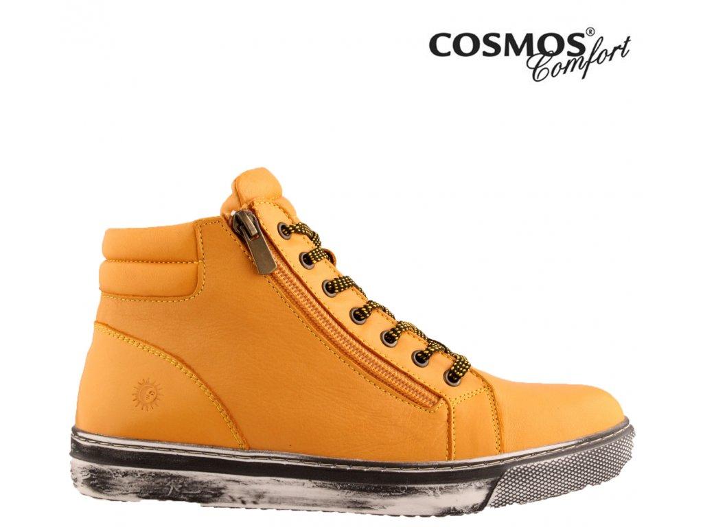 Celo-Kožené dámské sneakers boty se šněrováním a zipem COSMOS  Comfort 41264748