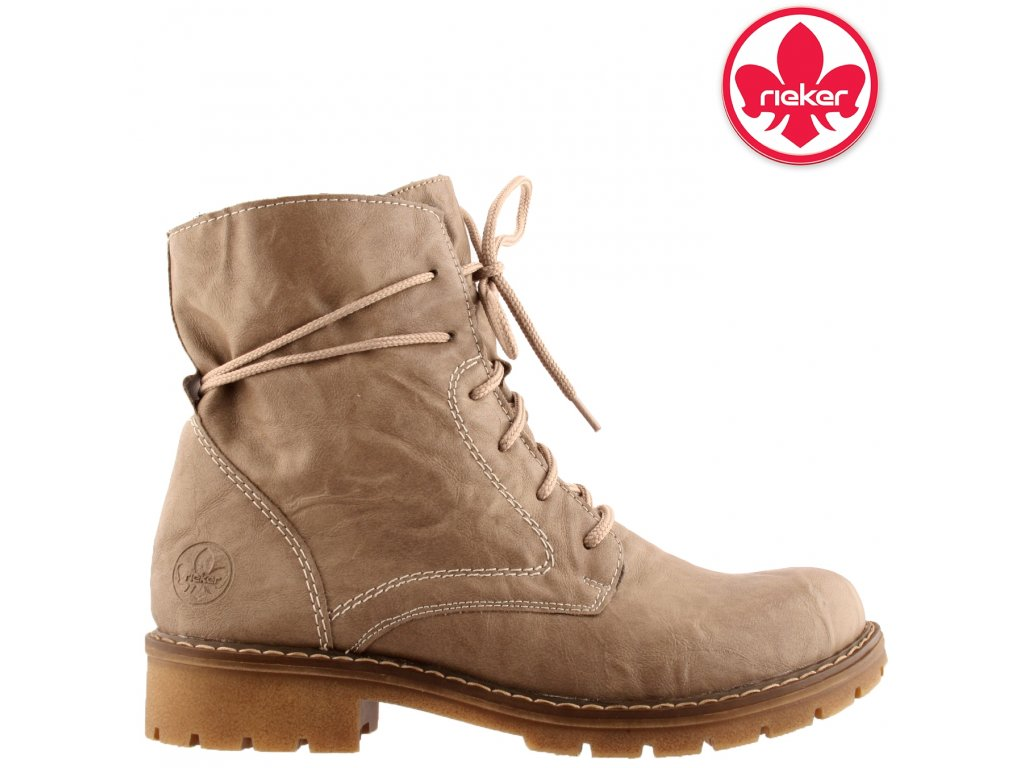 Dámská kotníková obuv RIEKER Y9132-64 béžová