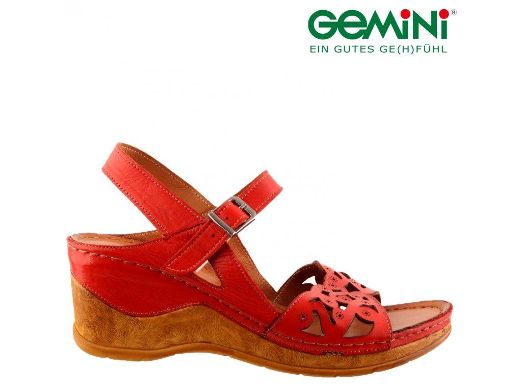 Kožené žluté dámské sandály na klínku 61963-68 Rieker 2020