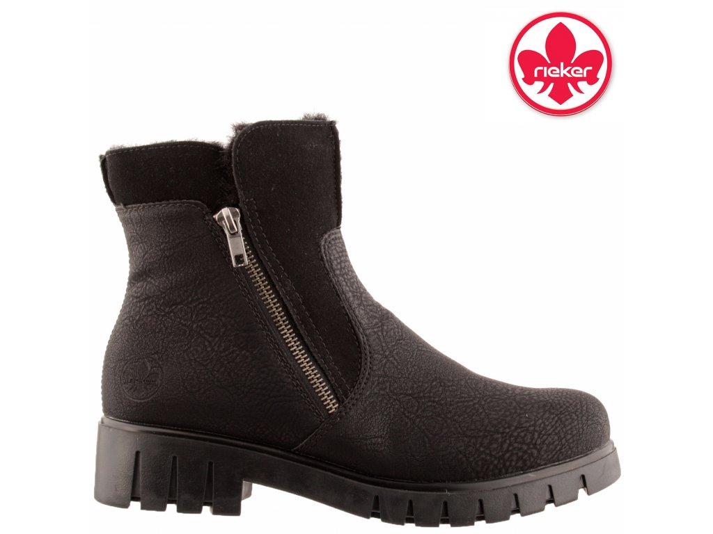 Dámská kotníková obuv RIEKER X2681-00 černá