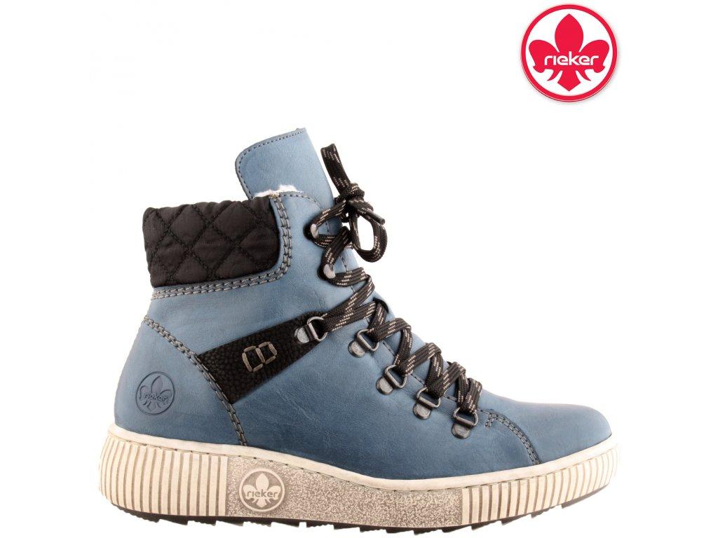 Dámská kotníková obuv RIEKER Z6639-14 modrá
