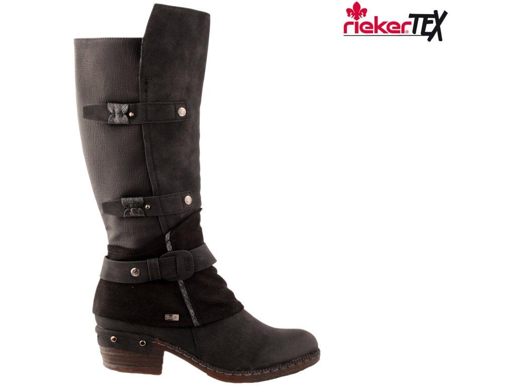 Dámské kozačky RIEKER 93684-00 černá
