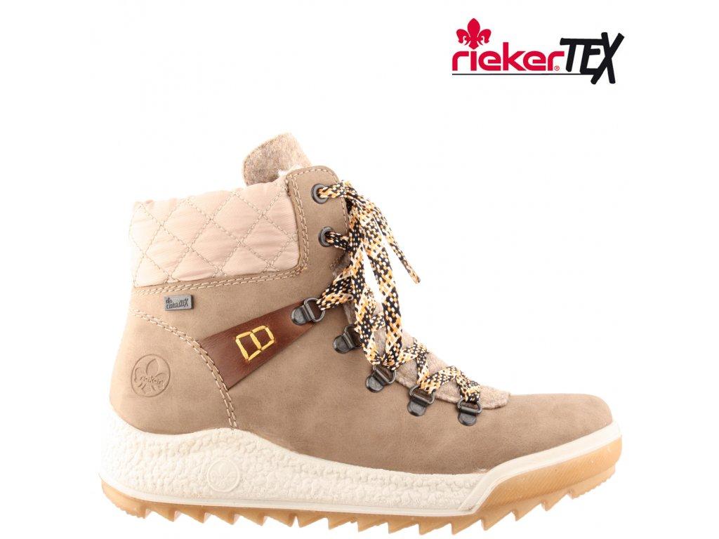Dámská kotníková obuv RIEKER Y4731-65 béžová
