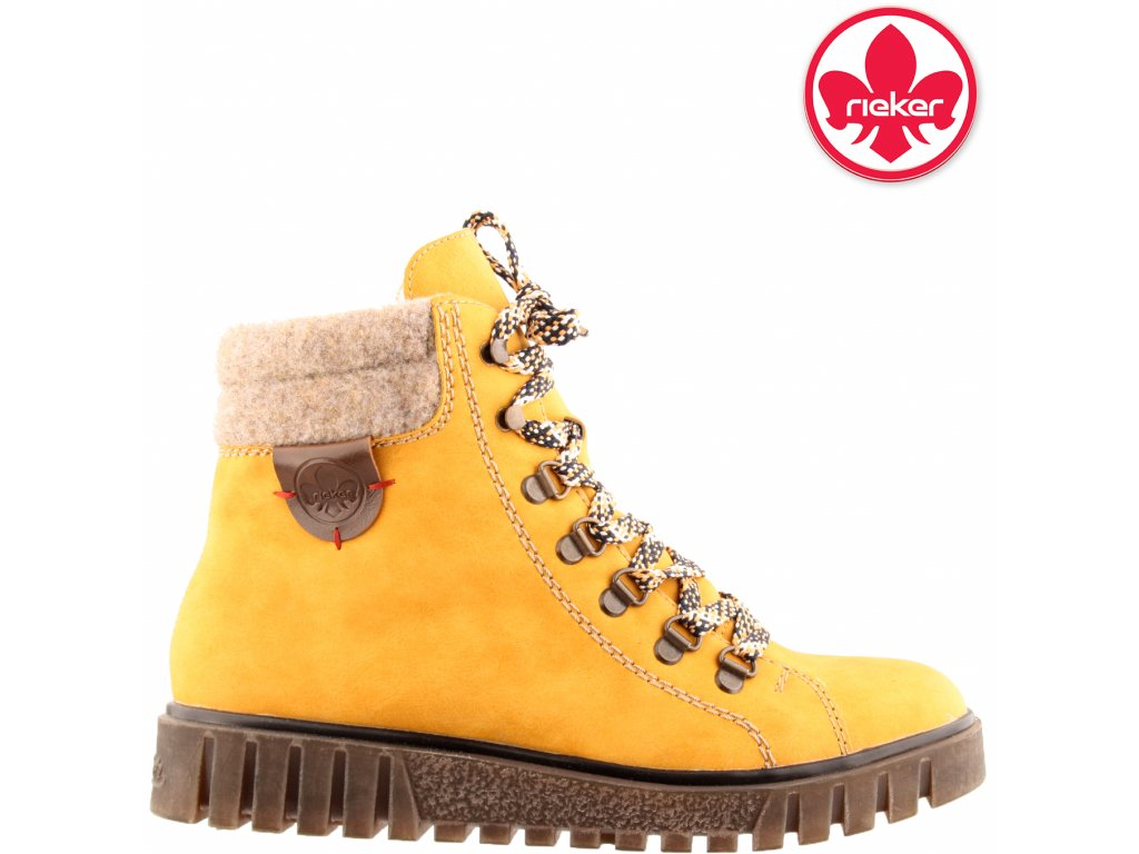 Dámská kotníková obuv RIEKER Y3440-68 žlutá