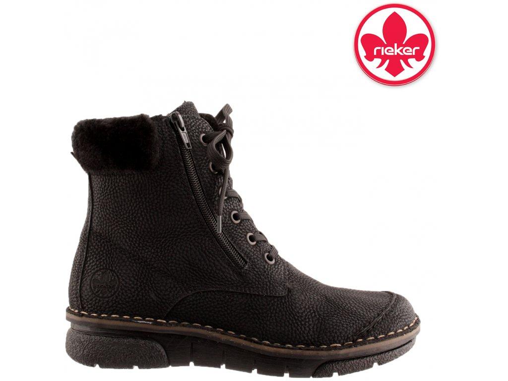 Dámská kotníková obuv RIEKER 73312-00 černá