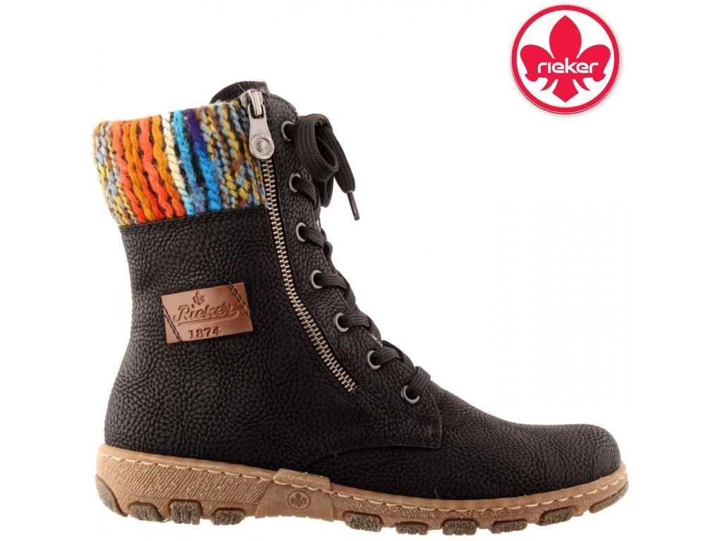 Dámská kotníková obuv RIEKER Z0123-00 černá