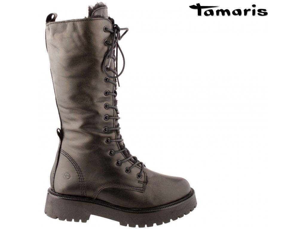 Dámské kozačky TAMARIS 26284-27-001 černá