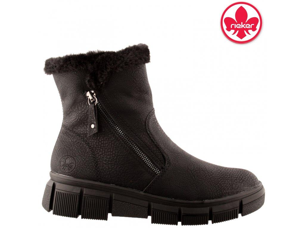 Dámská kotníková obuv RIEKER X3461-00 černá