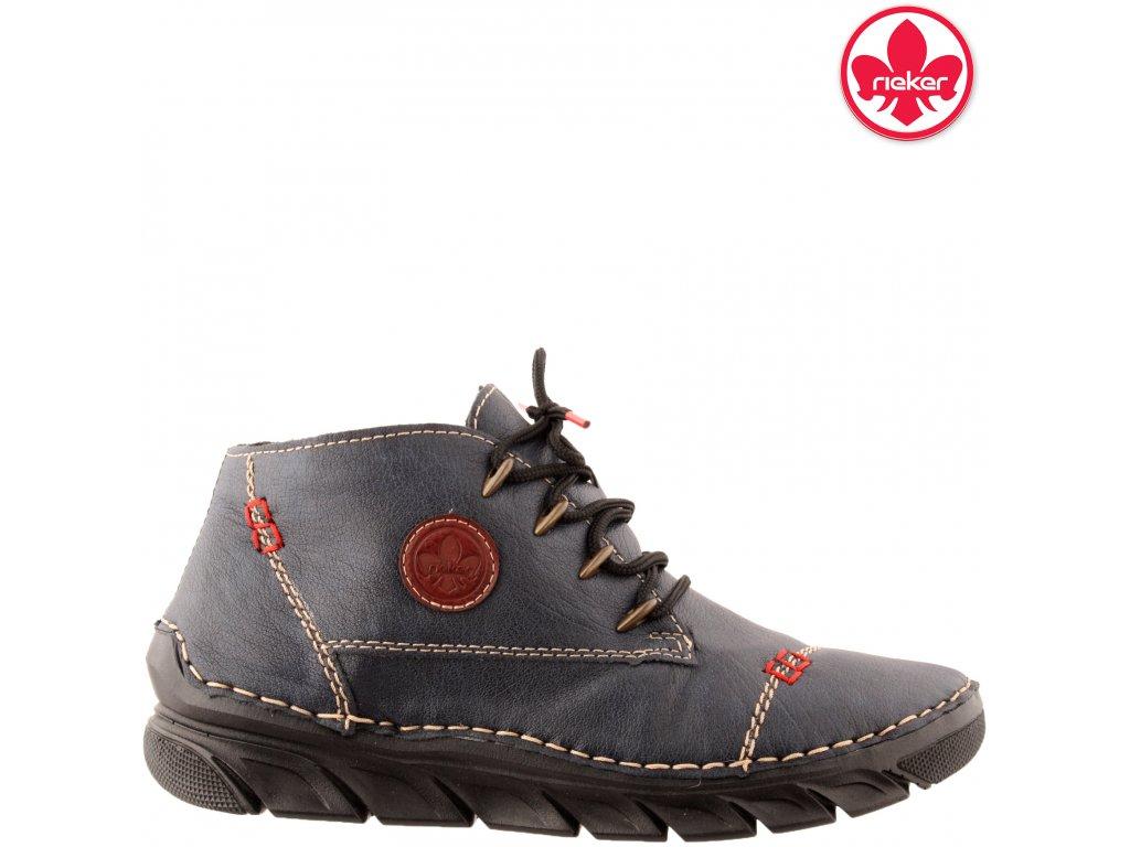 Dámská kotníková obuv RIEKER 55002-14 modrá