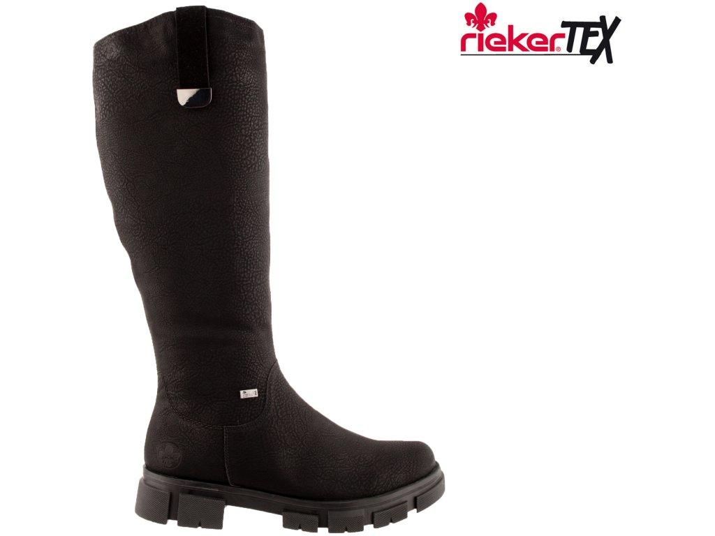 Dámské kozačky RIEKER Y7190-00 černá