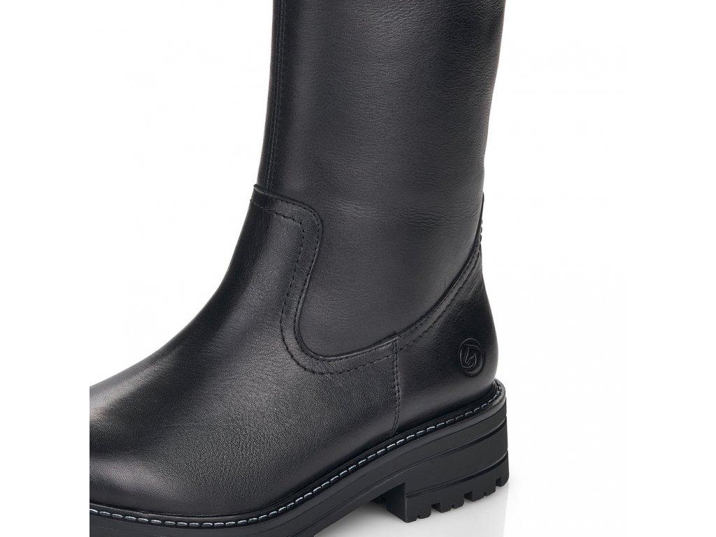 Dámské kozačky REMONTE d2275-01 černá