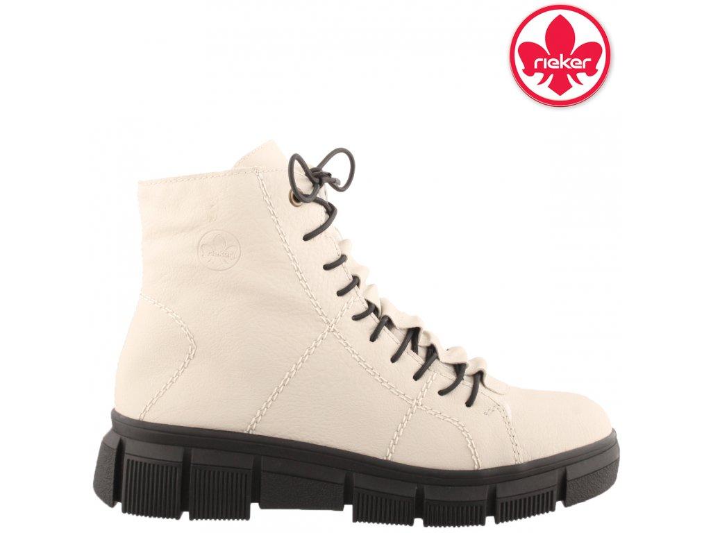 Dámská kotníková obuv RIEKER X3428-60 béžová