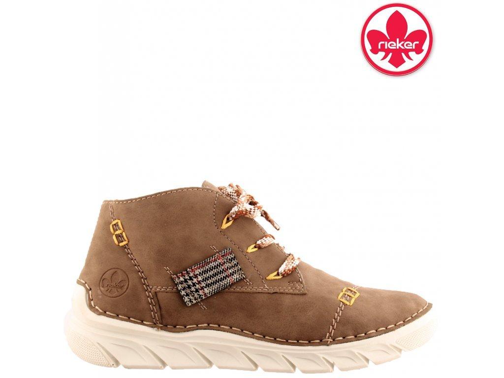 Dámská kotníková obuv RIEKER 55034-64 béžová