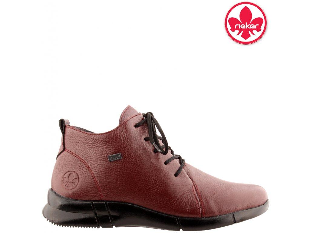 Dámská kotníková obuv RIEKER N2131-35 červená