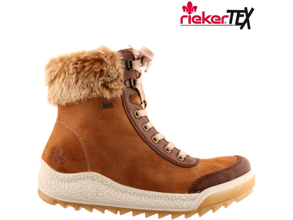 Dámská kotníková obuv RIEKER Y4720-24 hnědá