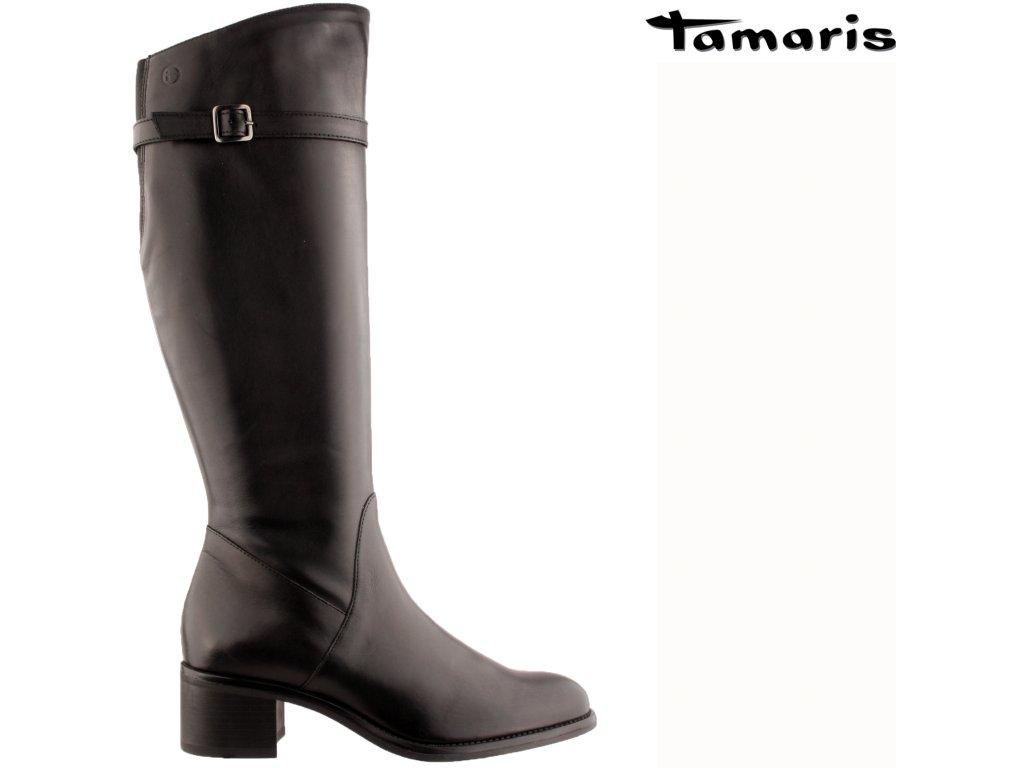Dámské kozačky TAMARIS 1-1-25531-27 černá
