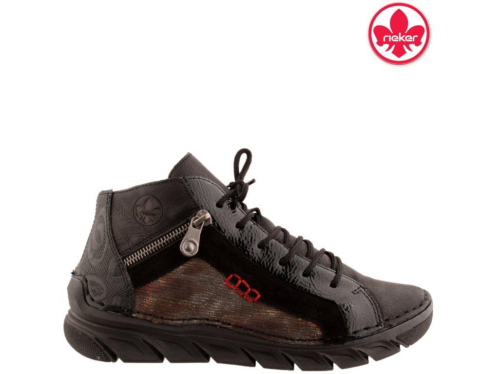 Dámská kotníková obuv RIEKER 55033-01 černá